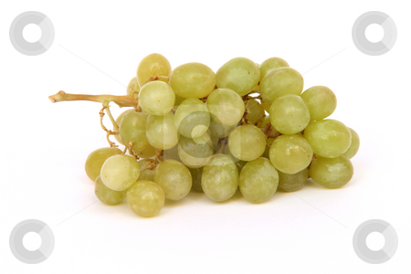 Grapes isolated stock photo, Grapes isolated on white background fruits and vegetables by EVANGELOS THOMAIDIS