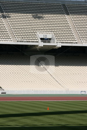 Empty stadium gate stock photo, Detail from athens olympic stadium filed and tiers gate ten by EVANGELOS THOMAIDIS
