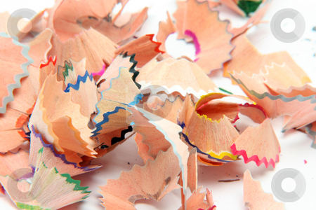Pencils shavings background stock photo, Multicolor pencils wood shavings for background use education concepts by EVANGELOS THOMAIDIS