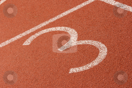 Third lane of racetrack stock photo, Race track lane third detail sports concepts by EVANGELOS THOMAIDIS