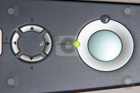 Navigation printer buttons stock photo, Navivation printer buttons closeup business and technology objects by EVANGELOS THOMAIDIS