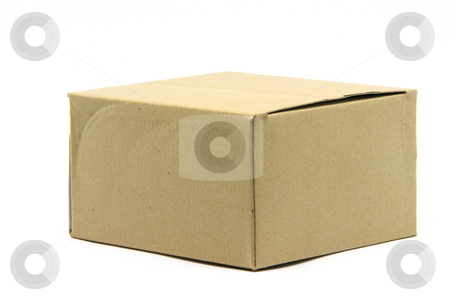 Carton box stock photo, Carton box isolated on white background packaging concepts by EVANGELOS THOMAIDIS