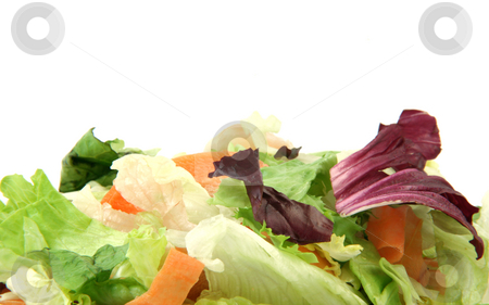 Vegetarian texture stock photo, Vegetarian texture from salad detail isolated on white background with copy space by EVANGELOS THOMAIDIS