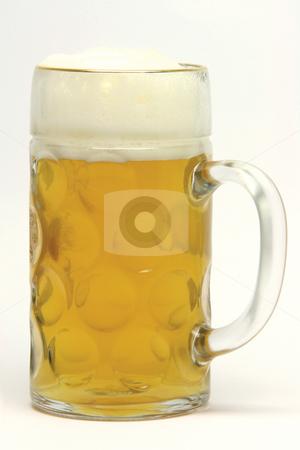 Beer mug stock photo, Classic bavarian beer mug on white  background by EVANGELOS THOMAIDIS