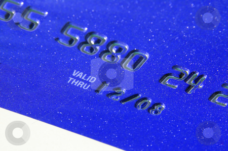 Credit Card stock photo, The expiration date on a generic credit card. by Robert Byron