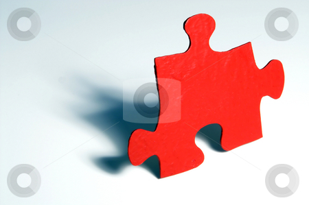 Puzzle Piece stock photo, A single piece of a puzzle. by Robert Byron