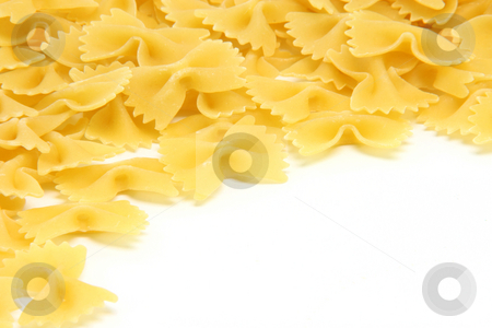Pasta with copy space stock photo, Pasta closeup isolated on white background with copy space by EVANGELOS THOMAIDIS