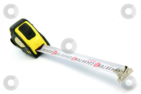 Measuring stock photo, Professional meter measure isolated on white background industrial tools by EVANGELOS THOMAIDIS
