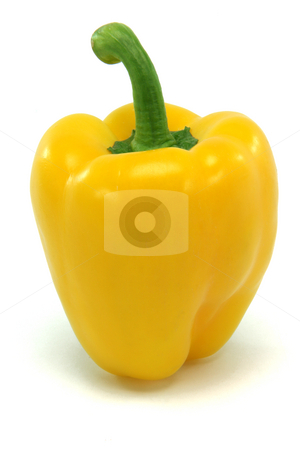 Yellow pepper stock photo, Yellow pepper above isolated on white background food and vegetables concepts by EVANGELOS THOMAIDIS