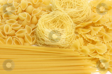 Pasta assortment texture stock photo, Spaghetti assortment for background use food concepts by EVANGELOS THOMAIDIS