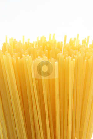 Classic sphaghetti vertical stock photo, Classic spaghetti isolated on white background with copy space food concepts vertical by EVANGELOS THOMAIDIS