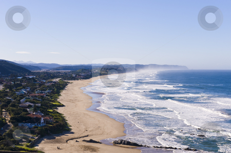 The beautiful beach of Wilderness stock photo, The beautiful long sandy beach of the South African town called Wilderness. by Nicolaas Traut