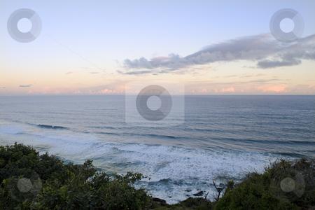 Beautiful sunset over the ocean stock photo, Beautiful sunset over the ocean by Nicolaas Traut