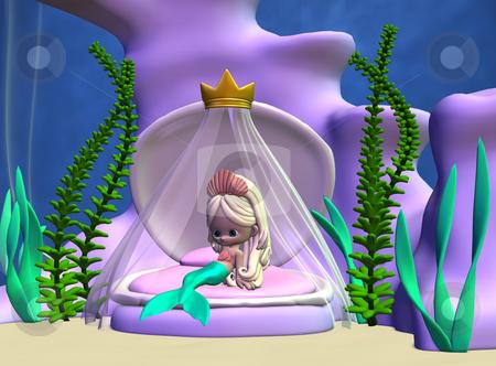 Toon Mermaid stock photo, 3D Render of an Toon Mermaid by Andreas Meyer