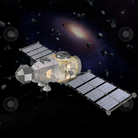 Military Satellite stock photo, 3D Render of an Military Satellite by Andreas Meyer