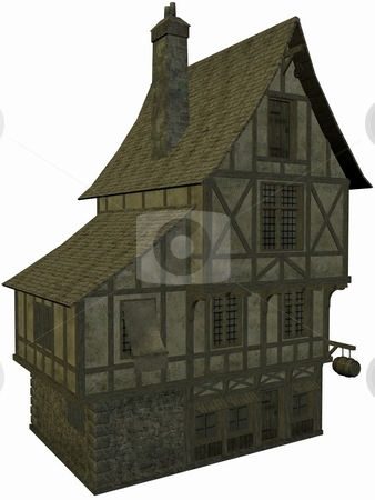 Medieval House stock photo, 3D Render of an Medieval House by Andreas Meyer