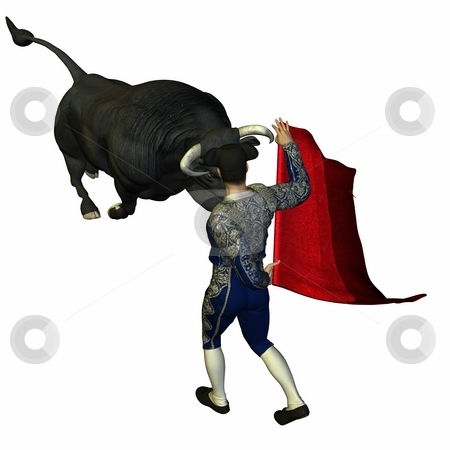 Bullfight stock photo, 3D Render of an Bullfight by Andreas Meyer