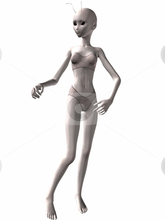 Lovely woman Alien stock photo, 3D Render of an Lovely Alien by Andreas Meyer