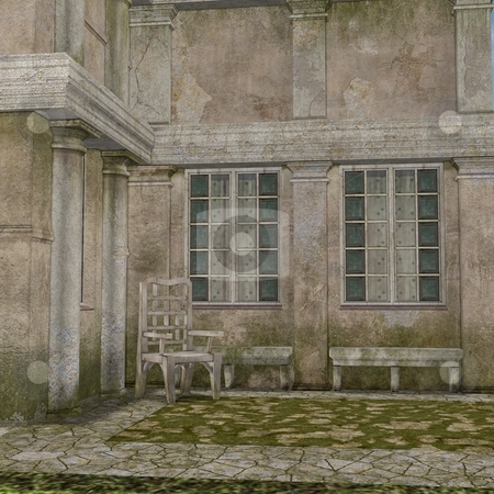 Manor House stock photo, 3D Render of an Manor House by Andreas Meyer