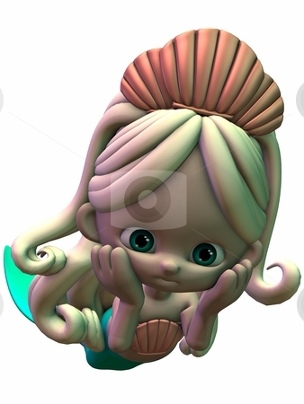 Toon Girl Mermaid stock photo, 3D Render of an Toon Mermaid by Andreas Meyer