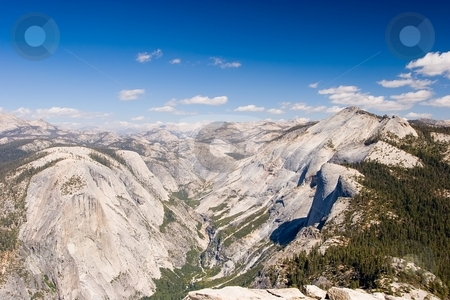 Half Dome stock photo, Half Dome is a granite dome in Yosemite National Park, located at the eastern end of Yosemite Valley by Mariusz Jurgielewicz