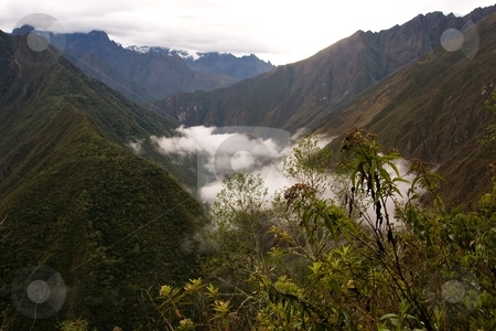 Wi?aywayna to Machu Picchu stock photo, Most popular of the Inca trails for trekking is the Capaq ?an trail, which leads from the village of Ollantaytambo to Machu Picchu by Mariusz Jurgielewicz