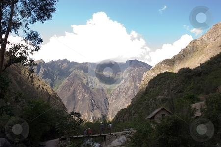 Huayllabamba to Yuncachimpa stock photo, Most popular of the Inca trails for trekking is the Capaq ?an trail, which leads from the village of Ollantaytambo to Machu Picchu by Mariusz Jurgielewicz