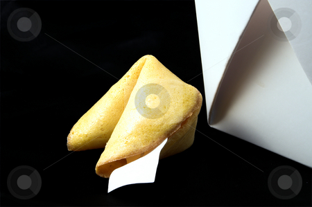 Fortune Cookie stock photo, A very interesting chinese fortune cookie. by Robert Byron