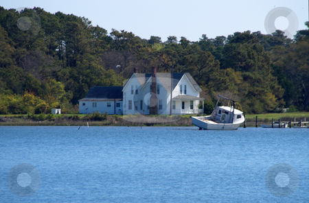 Coastal House stock photo, A house on the seashorat by Robert Byron