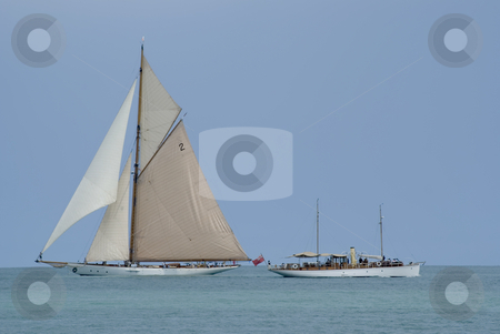 Old boats stock photo, Ancient yatch. by Serge VILLA