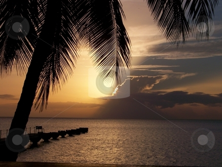 THE CARRIBEAN SUNSET stock photo,  by Robyn Marian