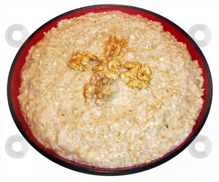 Cooked Wheat stock photo, Cooked Cracked Wheat with Walnuts and Sugar by Denis Radovanovic