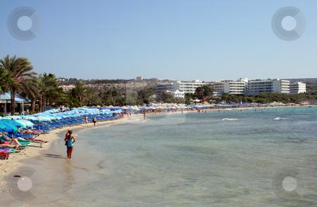 Ayia Napa Cyprus stock photo, Beach scene in Ayia Napa, Cyprus. by Martin Crowdy