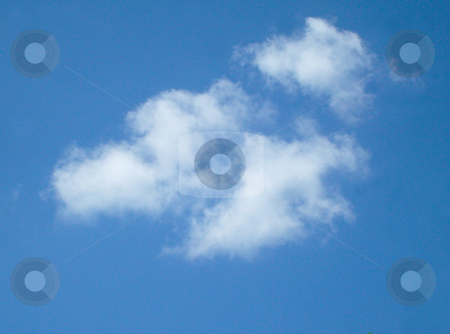White clouds in sky stock photo, Details of white clouds in blue sky scene. by Martin Crowdy