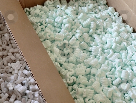 Background stock photo, Styrofoam packing material as background texture by Perry Correll