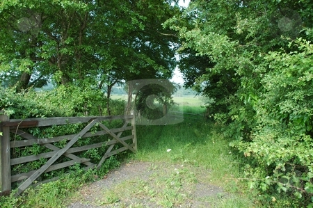 Rustic Gate  stock photo, Location Eccleston by Ray Roscoe