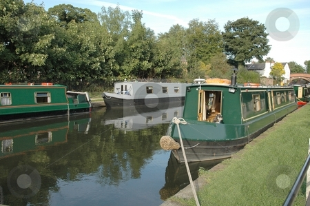 Narrowboat Rally stock photo, Narrowboat narrow boat canal water leisure scenic view countryside village by Ray Roscoe