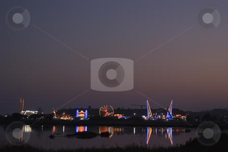 Amusement park stock photo, Amusement park during a summer time. by Serge VILLA
