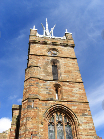 Old church tower stock photo, Old, historical, British church tower by Juliet Photography