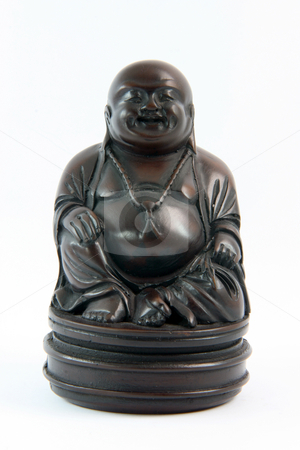 Statue of buddha stock photo, Small black handcrafted buddha statue religious and decoration concepts by EVANGELOS THOMAIDIS