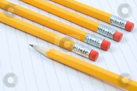 Pencils stock photo, A bunch of school pencils. by Robert Byron