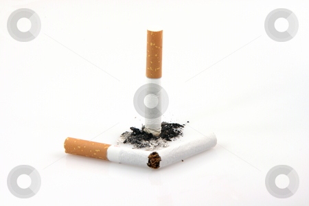 Broken cigarette stock photo, Health and addiction concepts broken cigarette  smoking isolated on white background by EVANGELOS THOMAIDIS