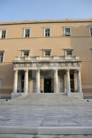 Entrance of parliament stock photo, The greek parliament main entrance athens greece by EVANGELOS THOMAIDIS
