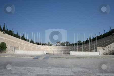 Landmarks stadium athens stock photo, Kalimarmaro stadium in athens greece the stadium where the first new olympic games started by EVANGELOS THOMAIDIS