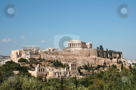 Parthenon rock stock photo, The rock of parthenon landmarks of athens greece by EVANGELOS THOMAIDIS