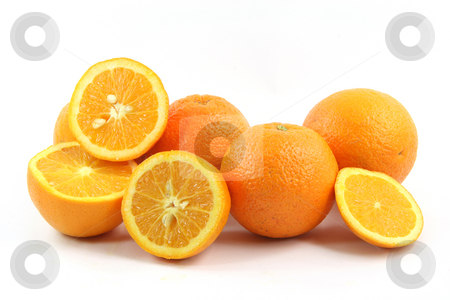 Oranges stock photo, Oranges isolated on white background healthy eating and agriculture by EVANGELOS THOMAIDIS
