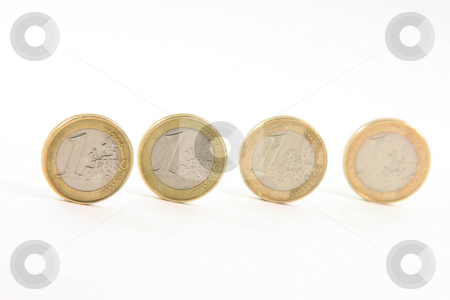Four euros stock photo, Four euros  isolated on white background money and finance concepts by EVANGELOS THOMAIDIS