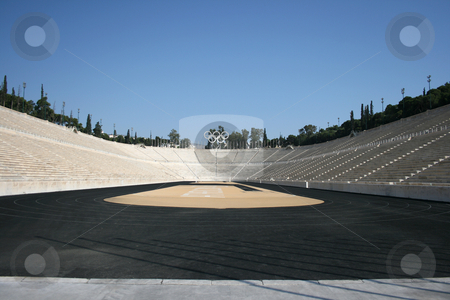 Kalimarmaro stadium stock photo, Kalimarmaro stadium in athens greece the stadium where the first new olympic games started by EVANGELOS THOMAIDIS