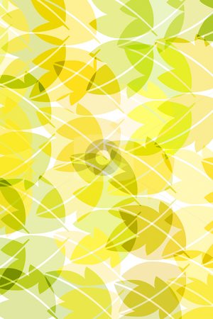 Pattern with leaves stock photo, Leaves in pastelcolours textured on white background by Wino Evertz