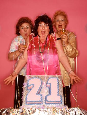 MPIXIS550742 stock photo, Senior women celebrating birthday by Mpixis World